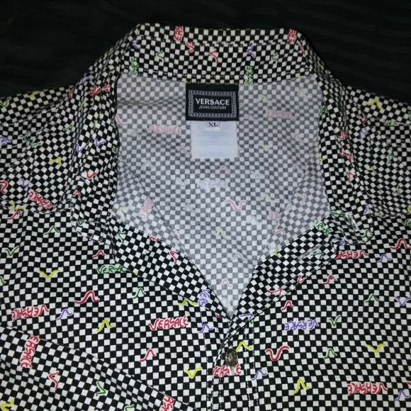 167b8c6cd Versace Jeans Couture checkerboard shirt. M_5a5e12642ab8c5c564c77bce
